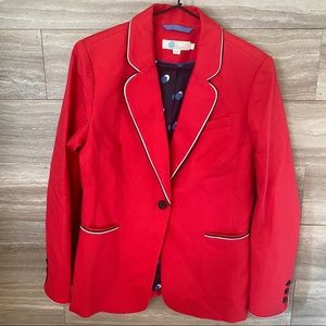 Boden Cotton Blazer Jacket Single Button